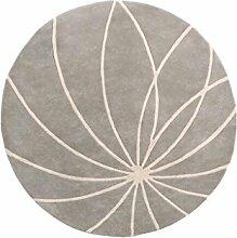 YFF ~ Mode Teppich Dicker runder Teppich im Wohnzimmer Schlafzimmer für Couchtisch Nachttisch Stuhl Bereich Teppich Matte Linie Muster Indoor Teppich ( größe : Diameter 140cm )