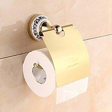 YFF Porzellan Rollenhalterung Platte gold wasserdicht Rollenpapier Regal continental Papier Handtuchhalter aus, gold Punch