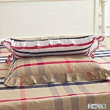 YFFS 2 Stück Baumwolle Twill Semi - Active Druck Bett Bettwäsche Kissen Baumwolle Lace Kissenbezug,O