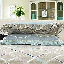 YFFS 2 Stück Baumwolle Twill Semi - Active Druck Bett Bettwäsche Kissen Baumwolle Lace Kissenbezug,B