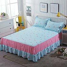 YFFS Aloe Baumwolle Baumwolle Matratze Rock Einzelstück Einzelbettdecke Decke Matratze Matratze Abdeckung,G-150*200cm
