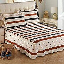 YFFS Baumwoll-Baumwoll-Matratze Baumwolle Und Baumwolle Warme Bettdecken Bett-Sets Bettwäsche,G-200*220CM
