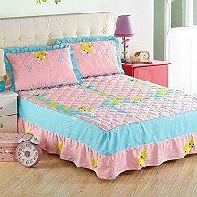 YFFS Baumwoll-Baumwoll-Matratze Baumwolle Und Baumwolle Warme Bettdecken Bett-Sets Bettwäsche,E-150*200CM