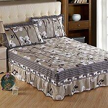 YFFS Baumwoll-Baumwoll-Matratze Baumwolle Und Baumwolle Warme Bettdecken Bett-Sets Bettwäsche,D-180*220CM