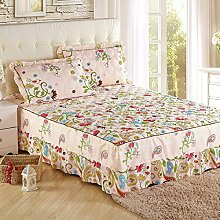YFFS Baumwoll-Baumwoll-Matratze Baumwolle Und Baumwolle Warme Bettdecken Bett-Sets Bettwäsche,K-180*220CM