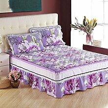 YFFS Baumwoll-Baumwoll-Matratze Baumwolle Und Baumwolle Warme Bettdecken Bett-Sets Bettwäsche,C-180*200CM