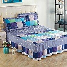 YFFS Baumwoll-Baumwoll-Matratze Baumwolle Und Baumwolle Warme Bettdecken Bett-Sets Bettwäsche,F-200*220CM
