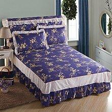 YFFS Baumwoll-Bedruckte Bett-Rock-Bettdecke Baumwollbettwäsche Einzelbett-Bettwäsche,O-150*200cm