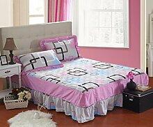 YFFS Baumwoll-Matratze Aus Baumwolle Matratze Einzelnes Stück Baumwolle Bedruckte Bettdecke Einzelnes Doppelbett Abdeckung Schutzhülle Bettwäsche,R-120*200CM