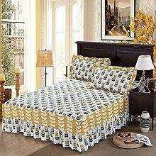 YFFS Baumwoll-Matratze Aus Baumwolle Matratze Einzelnes Stück Baumwolle Bedruckte Bettdecke Einzelnes Doppelbett Abdeckung Schutzhülle Bettwäsche,V-120*200CM