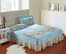 YFFS Baumwoll-Matratze Aus Baumwolle Matratze Einzelnes Stück Baumwolle Bedruckte Bettdecke Einzelnes Doppelbett Abdeckung Schutzhülle Bettwäsche,L-150*200CM