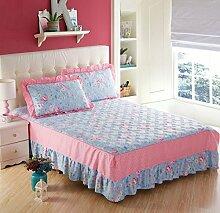 YFFS Baumwoll-Matratze Aus Baumwolle Matratze Einzelnes Stück Baumwolle Bedruckte Bettdecke Einzelnes Doppelbett Abdeckung Schutzhülle Bettwäsche,S-180*200CM