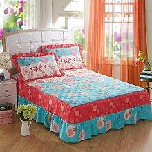 YFFS Baumwoll-Matratze Aus Baumwolle Matratze Einzelnes Stück Baumwolle Bedruckte Bettdecke Einzelnes Doppelbett Abdeckung Schutzhülle Bettwäsche,G-150*200CM