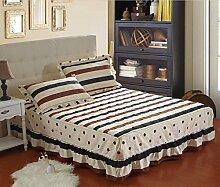 YFFS Baumwoll-Matratze Aus Baumwolle Matratze Einzelnes Stück Baumwolle Bedruckte Bettdecke Einzelnes Doppelbett Abdeckung Schutzhülle Bettwäsche,H-180*200CM