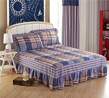 YFFS Baumwoll-Matratze Aus Baumwolle Matratze Einzelnes Stück Baumwolle Bedruckte Bettdecke Einzelnes Doppelbett Abdeckung Schutzhülle Bettwäsche,Z-180*200CM