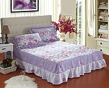YFFS Baumwoll-Matratze Aus Baumwolle Matratze Einzelnes Stück Baumwolle Bedruckte Bettdecke Einzelnes Doppelbett Abdeckung Schutzhülle Bettwäsche,W-120*200CM