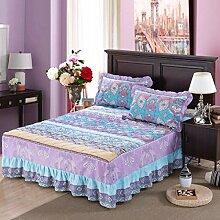 YFFS Baumwoll-Matratze Aus Baumwolle Matratze Einzelnes Stück Baumwolle Bedruckte Bettdecke Einzelnes Doppelbett Abdeckung Schutzhülle Bettwäsche,Q-120*200CM