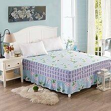 YFFS Baumwolle Bedspread Bett Rock Baumwolle Volltonfarbe Einteiliges Beet Skirt,M-200*200cm