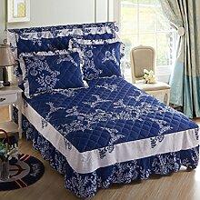 YFFS Baumwolle Thick Bed Rock Bettdecke Cover Single Pille Baumwolle Bett Baumwolle Doppelbett Blatt,A-180*200cm
