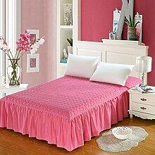 YFFS Bettwäsche Dicker Baumwolle Pure Baumwolle Bettwäsche Tagesdecke Einzelbett Baumwolle Bett Bett Rock,C-120*200cm+45cm