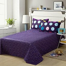 YFFS Cotton Twill Student Bettwäsche Baumwolle Doppel-Blätter Einzelstück Baumwolle Bett Bettwäsche Bettwäsche,O-160*230cm