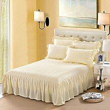 YFFS Einzelne Stück Pure Farbe Baumwolle Bett Rock Baumwolle Pure Baumwolle Bettdecke Bett Bettwäsche,L-120*200CM