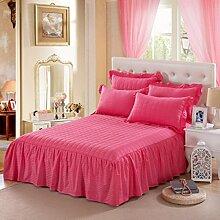 YFFS Einzelne Stück Pure Farbe Baumwolle Bett Rock Baumwolle Pure Baumwolle Bettdecke Bett Bettwäsche,K-150*200CM