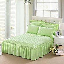 YFFS Einzelne Stück Pure Farbe Baumwolle Bett Rock Baumwolle Pure Baumwolle Bettdecke Bett Bettwäsche,E-150*200CM
