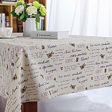 YFFS Englisch Letter Flower Tischdecke Microwelle