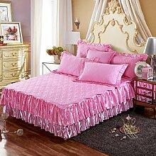 YFFS Europäisches Bett Rock Gesteppte Bett Unternehmen Abnehmbarer Doppelzweck-Typ,E-150*200+48cm(高度)单床裙