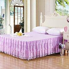 YFFS Lace Bed Rock Einzelne Bettdecke Sweet Princess Sommer Bett Rock,A-150*20CM