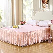 YFFS Lace Bed Rock Einzelne Bettdecke Sweet Princess Sommer Bett Rock,C-120*200CM