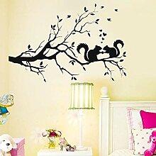 YFKSLAY Aufkleber Baum und Eichhörnchen für die