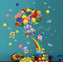 YFKSLAY Aufkleber Kinder Wandrutsche Regenbogen