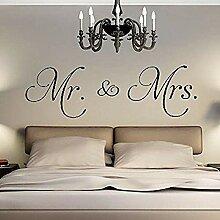 YFKSLAY Aufkleber Mr & Mrs Kopfteil