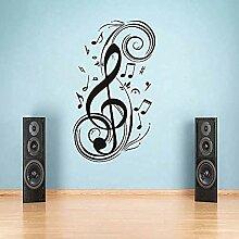 YFKSLAY Aufkleber Musiknote Spiraldekoration Wand