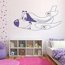 YFKSLAY Cartoon Smiley Flugzeug Kinderzimmer