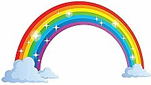 YFKSLAY Regenbogenwolken Wandkunst Wandaufkleber