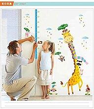 YFKSLAY Wandaufkleber Giraffe Höhe Aufkleber Baby