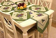 YFQH-Amerikanischen Dorf Jacquard Tischläufer Tischsets Tischläufer Table Table Table Runner Runner-Style Garten