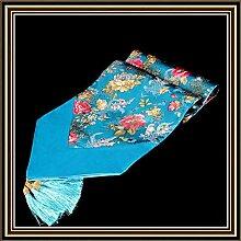 YFQH-Buchstabiere Gold Diamond Plain Edge Linien Drucken Wandteppich Tabelle Runner, Ro