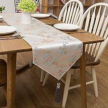 YFQH-Chinesische Einfache moderne Europäische Garten Jacquard Tischläufer Tabelle Handtuch und Handtuch Handtuch TV-Schrank Couchtisch Flagge, Gold, 35 * 183 Cm