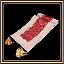 YFQH-Chinesische klassische Kunst, Bettwäsche, rechteckigen Tisch Läufer für Weihnachten Tr 29 A, Weiß