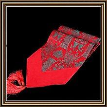 YFQH-Diamond Plain Festplatte kopieren 35 Doppelzimmer Fisch Seide Tischläufer Tischdecke Bett Flagge, 3