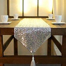 YFQH - Hotel Club dekorative Tischläufer Gold Armor verschlüsselte Version mit Pailletten Tischläufer, Gold, Cm 33 X 200
