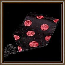 YFQH-Klassische Boutique chinesische Drachen Blume Tischläufer Gobelin Tischdekoration, 1.