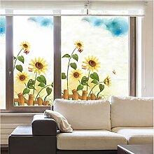 YFXGSTLI Fenster Film Sunflower Fensteraufkleber