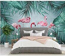 YFXGSTLI Fototapete Tropische 3D Flamingo Tapete