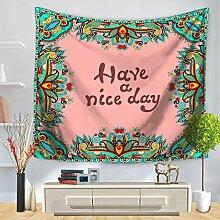 YFXGSTLI Tapestry Englisch Kurz Satz Gedruckte