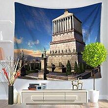 YFXGSTLI Vintage Tapestry Famous Art Gebäude